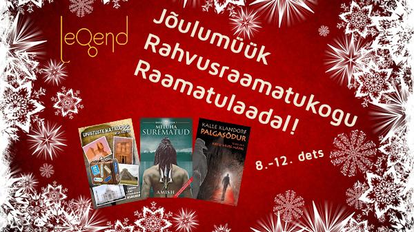 Kirjastuse Legend raamatute jõulumüük